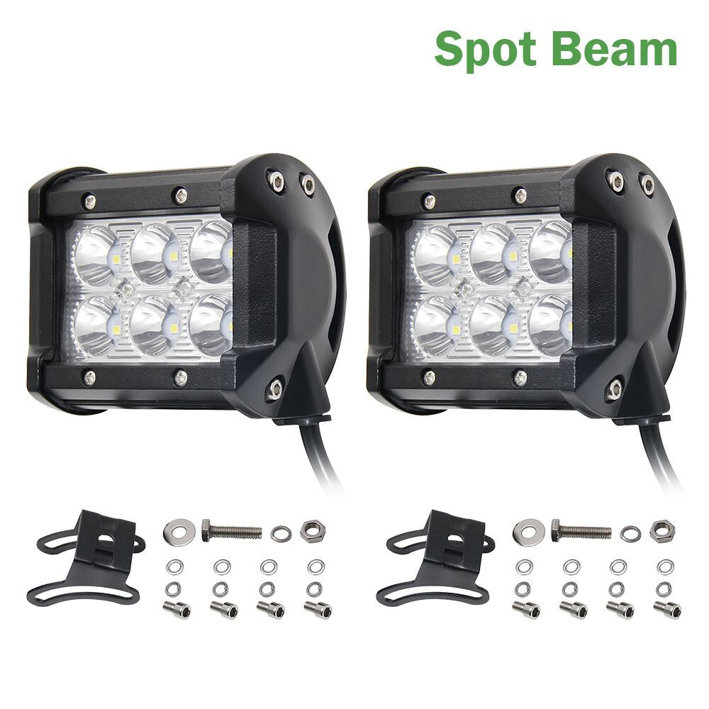 Co Light 12 Volt Led Light Bar 18w 4inch 4 Spot Flood Beam For 4x4 Offroad Jeep Uaz Boat Tractor Truck 4x4 Suv Atv Car St Atv Car 12v Led Lights
