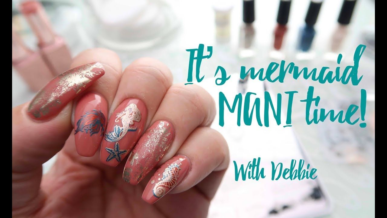 It's Mermaid Mani time! Mani, Mermaid, Beautiful mermaids