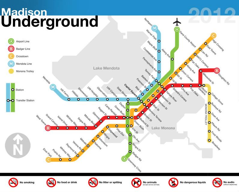Madison Subway Map.Subway Map Of Madison Art Images Subway Map Map Underground Map