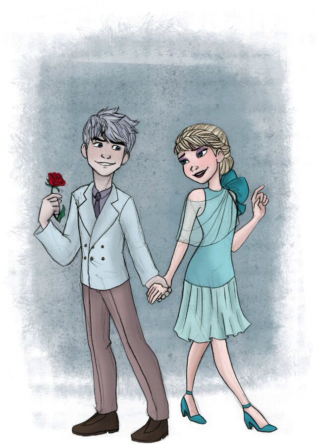 Jack and Elsa prom