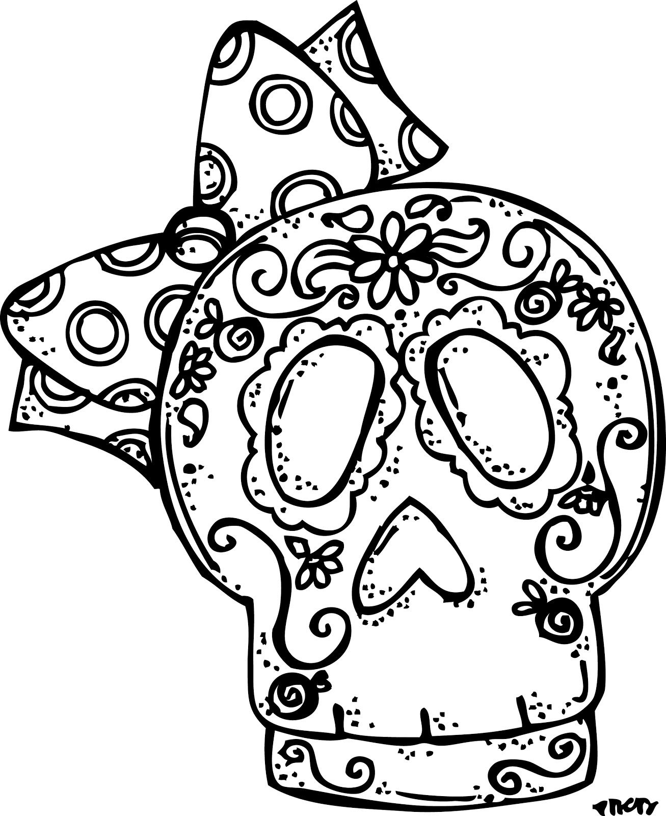 dia de los muertos coloring pages all coloring page - Cinco De Mayo Skull Coloring Pages