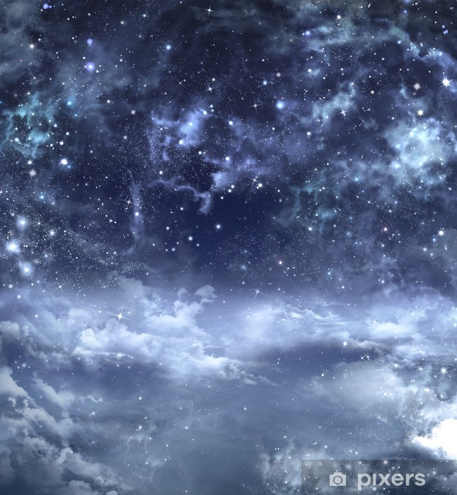 beautiful background of the night sky Wall Mural • Pixers® - We live to change