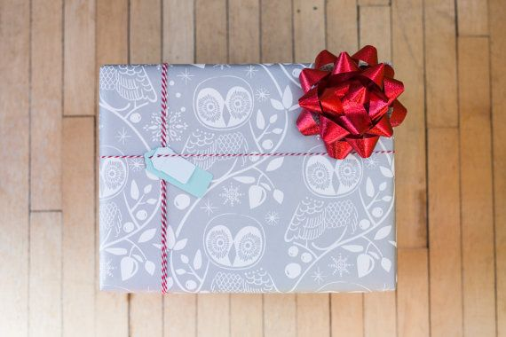 Snow Owl Gift Wrap 10 Ft Wrapping Paper Roll By Soireesupply Christmas Gift Wrapping Paper Gift Wrapping Gift Wrapping Paper
