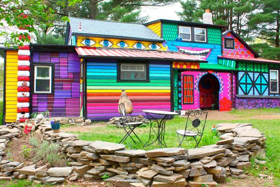 Exterior House Colors That Really Pop Rainbow House Hippie