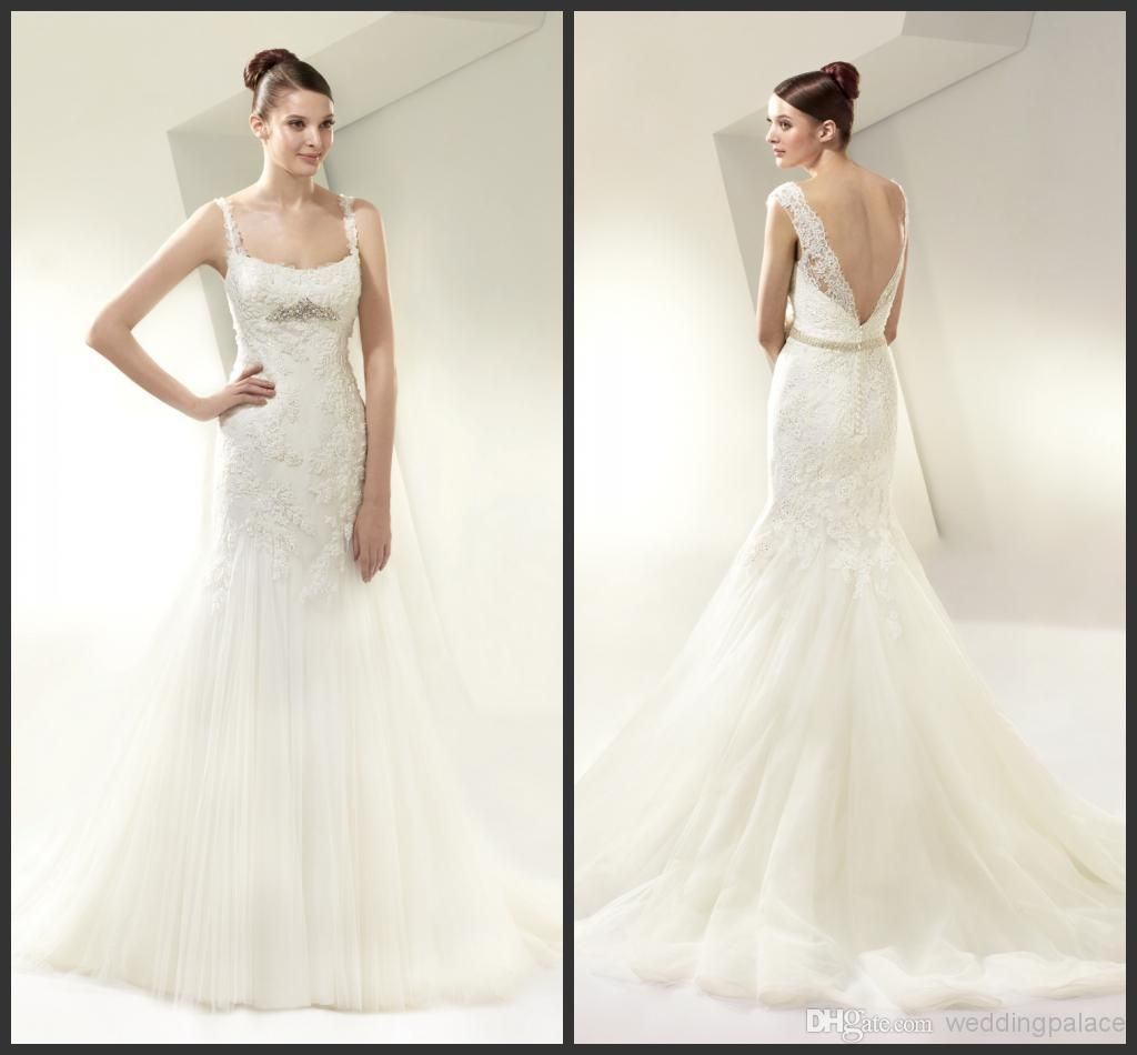Wholesale Wedding Dress - Buy Awesome Beautiful Spaghetti Straps ...