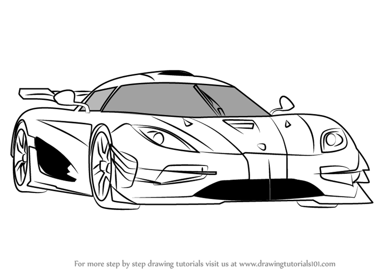 Learn How to Draw Koenigsegg One (Sports Cars) Step by ...