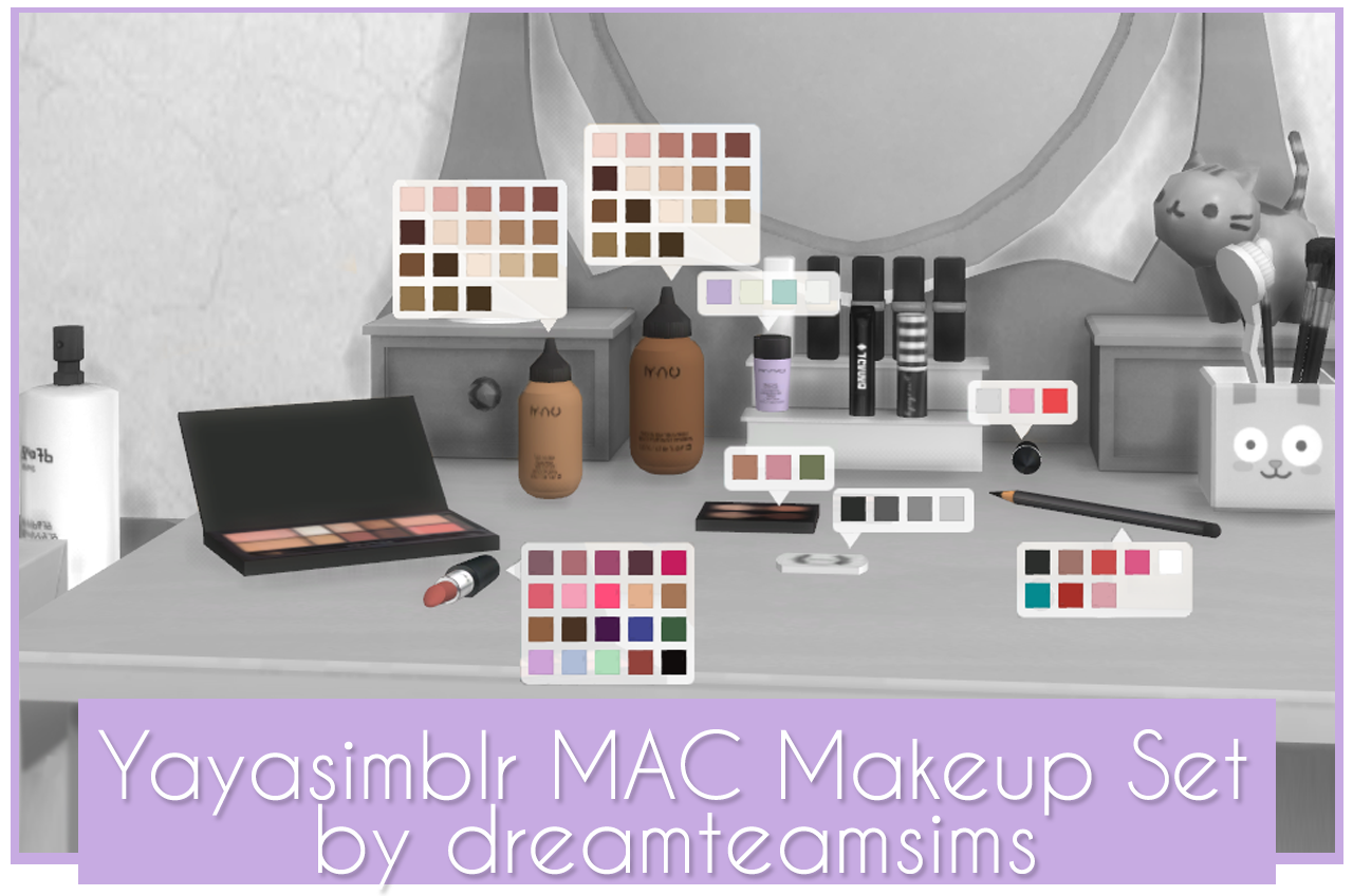 LolaSims' Simlish Fix MAC Makeup Set Have some Simlish