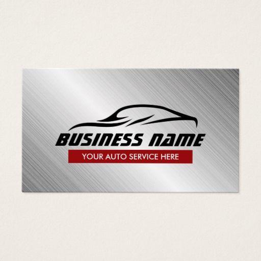 Auto Repair Cool Car Shape Metallic Automotive Business
