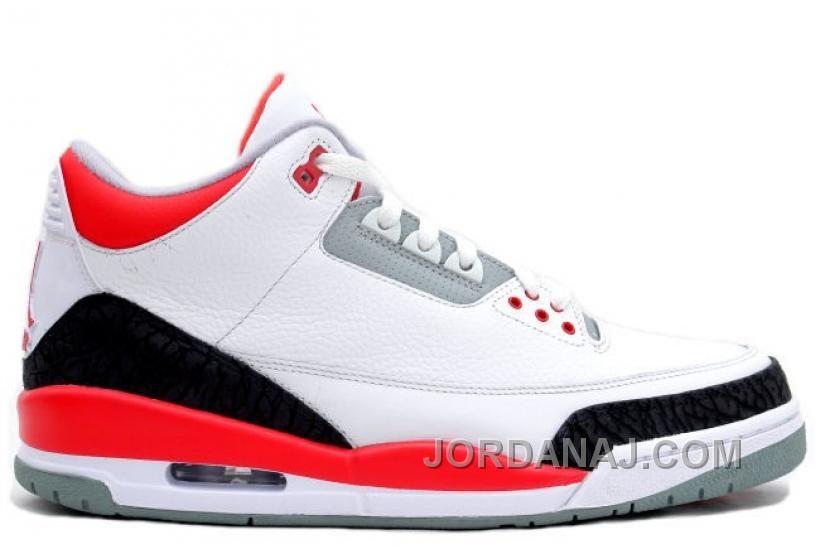 innovative design f9e25 e75a1 136064-120 Air Jordan Retro 3 White Fire Red-Neutral Grey-Black, Price    139.00 - Air Jordan Shoes, 2016 New Jordan Shoes, Michael Jordan Shoes