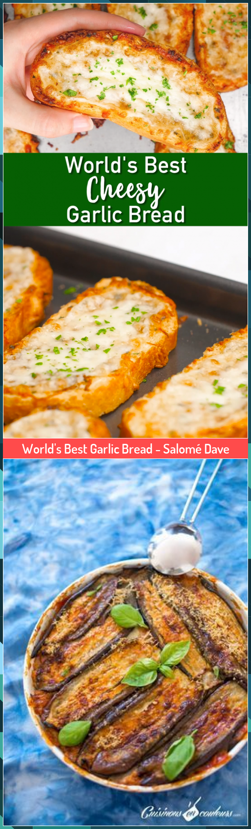 World's Best Garlic Bread - Salomé Dave #Bread #Dave #Garlic #Salomé #Worlds