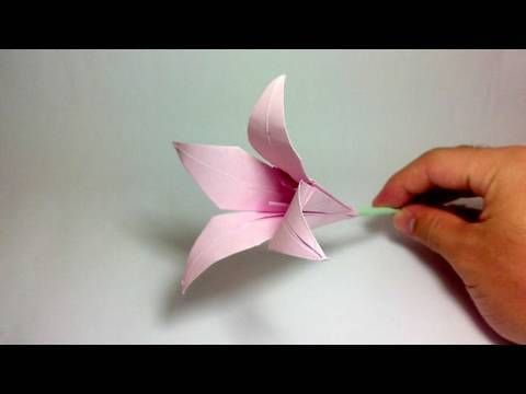 How To Make Calla Lily Paper Flower Easy Origami Flowers For Beginners Making Diy Paper Craft Origami Lily Origami Flowers Instructions Easy Origami Flower