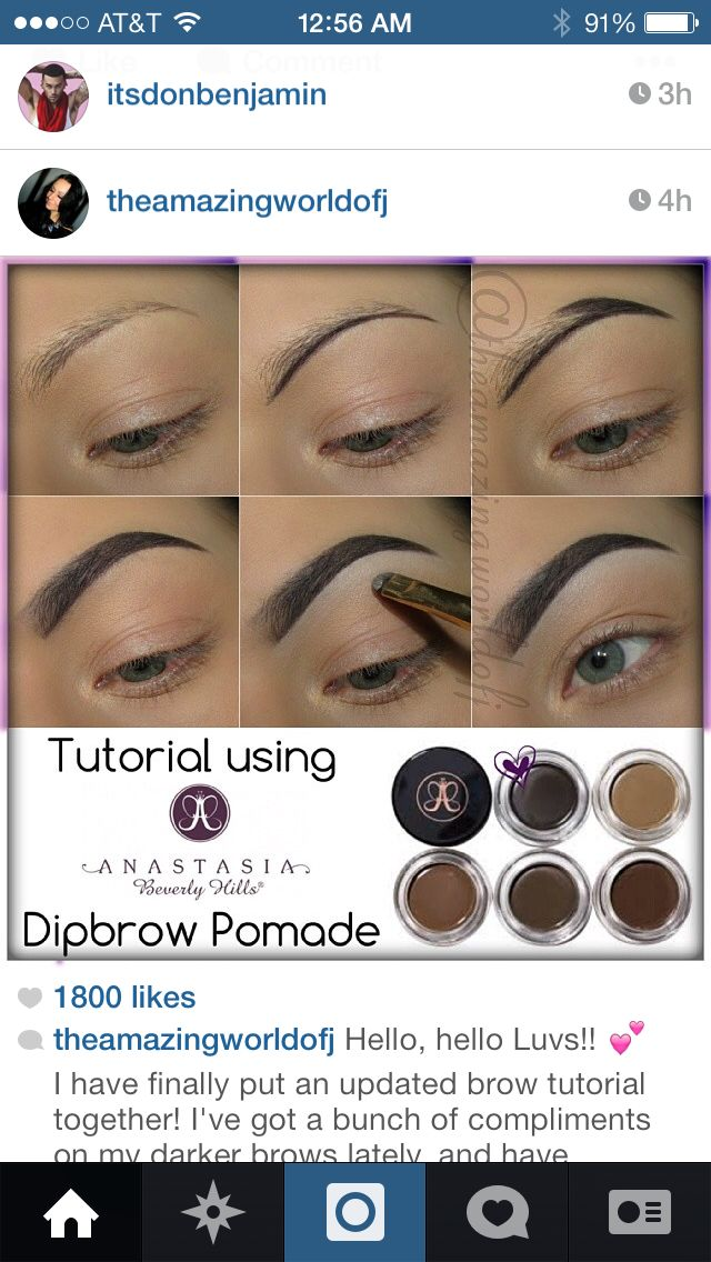 Anastasia Brow tutorial   Eyebrow makeup tips, Eyebrow ...