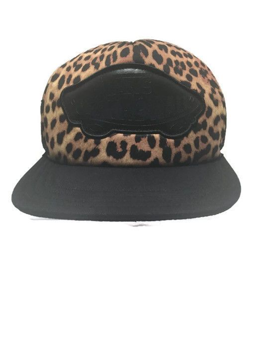 67da737145d Vans Off The Wall Brown Black Leopard Mesh Trucker Snapback Skater Punk Cap  Hat…