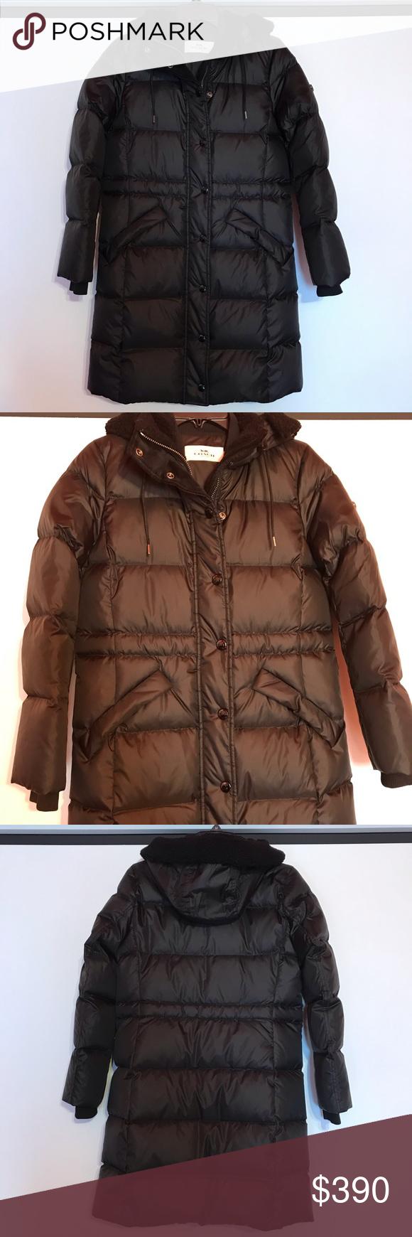 Coach Black Long Puffer Jacket Xsmall Nwt Long Puffer Jacket Jackets Puffer Jackets [ 1740 x 580 Pixel ]