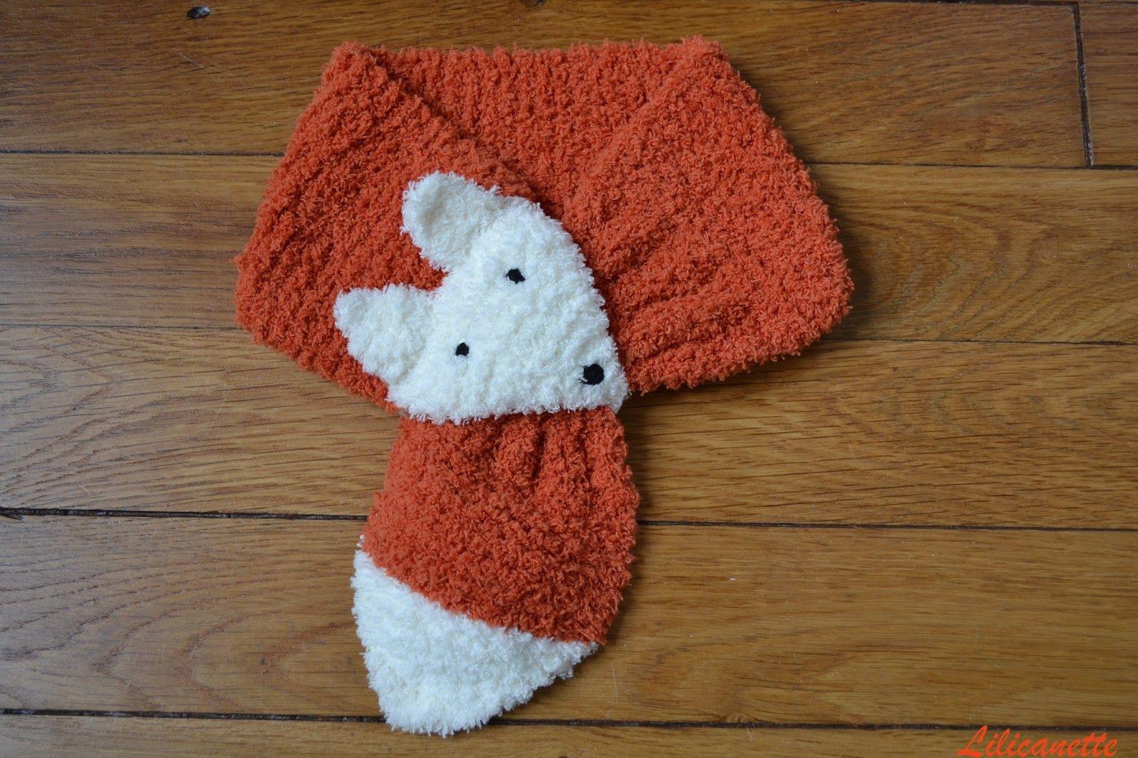 diy le tricot pour une charpe renard et son tuto. Black Bedroom Furniture Sets. Home Design Ideas
