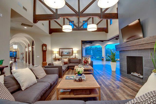 Spanish contemporary style estate - contemporary - patio - los ...