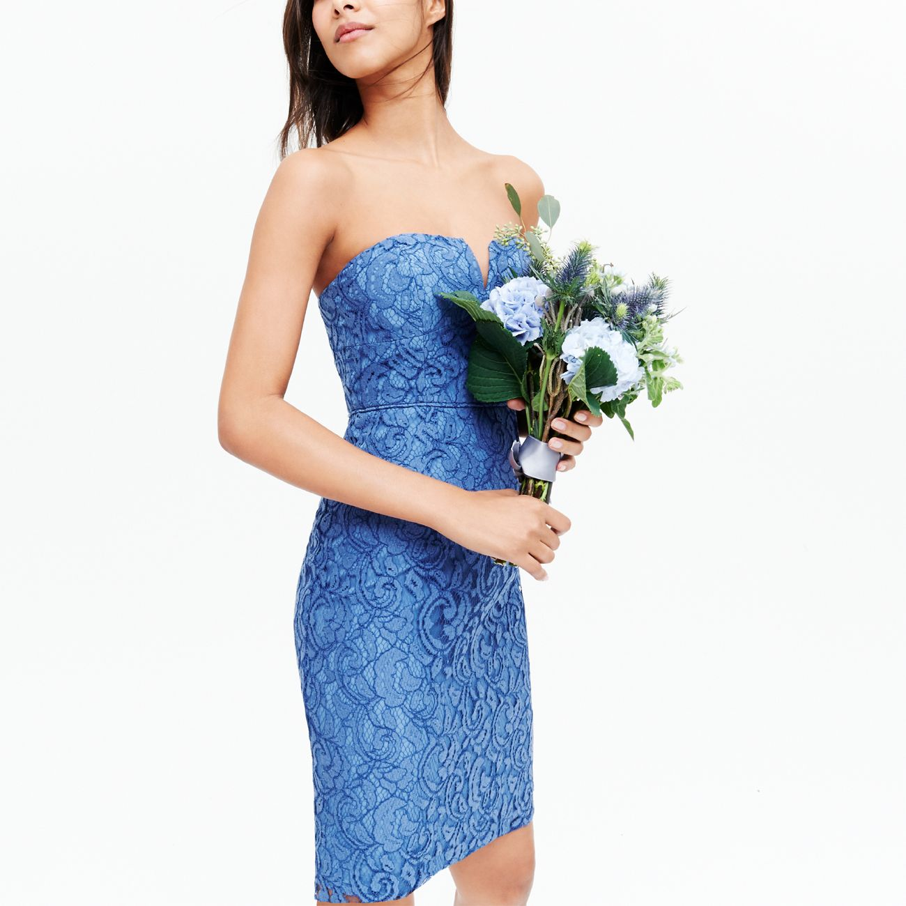 Weddings Parties J Crew Cathleen Bridesmaid Dress In Steely Ocean Leavers Lace