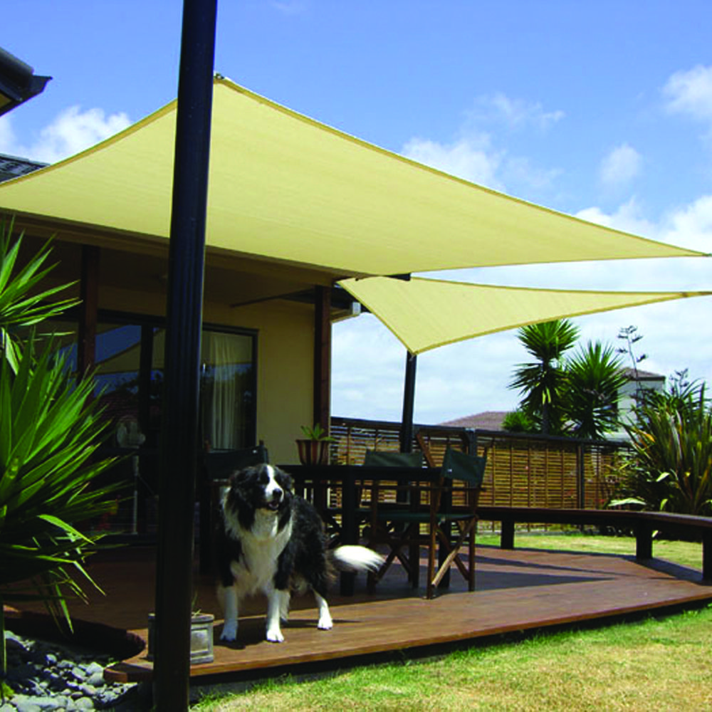 coolaroo kit shade for g triangle sail awning at patio awnings furniture