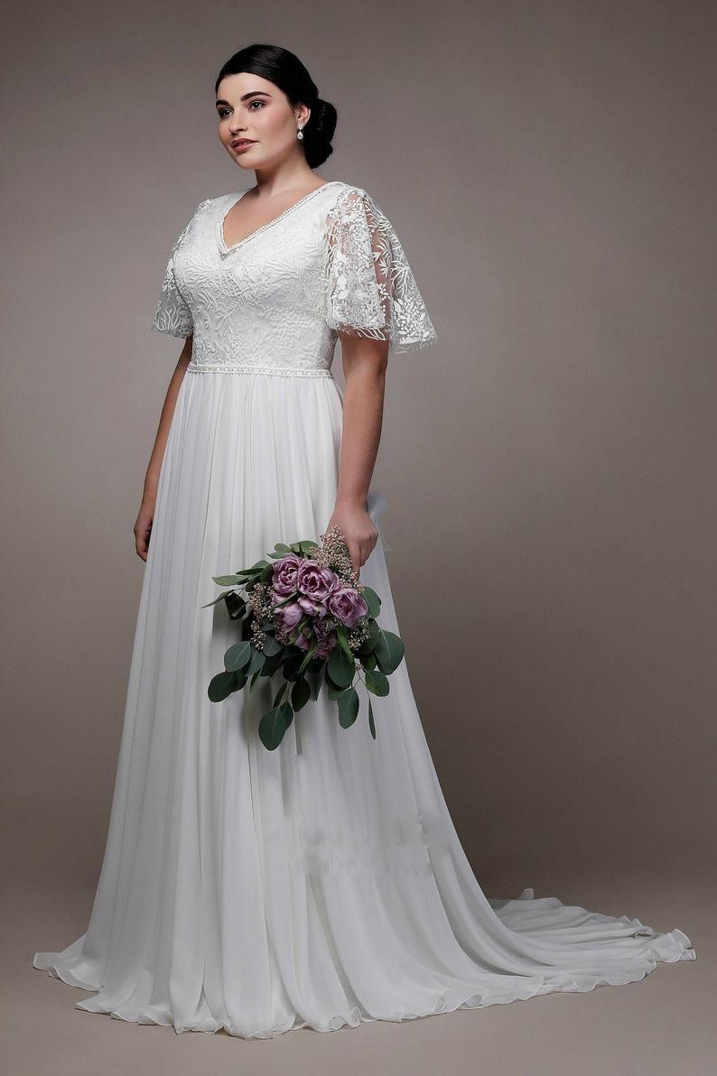 Plus Size White Dress Lace Dress Maxi Dress Long Sleeve Etsy Cocktail Dress Wedding Wedding Dresses Plus Size Cocktail Dresses [ 1192 x 794 Pixel ]