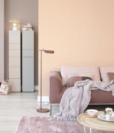 Wohnen mit Farbe - Pastell als Wandfarbe mit farbigen Möbeln - wohnzimmer brauntone