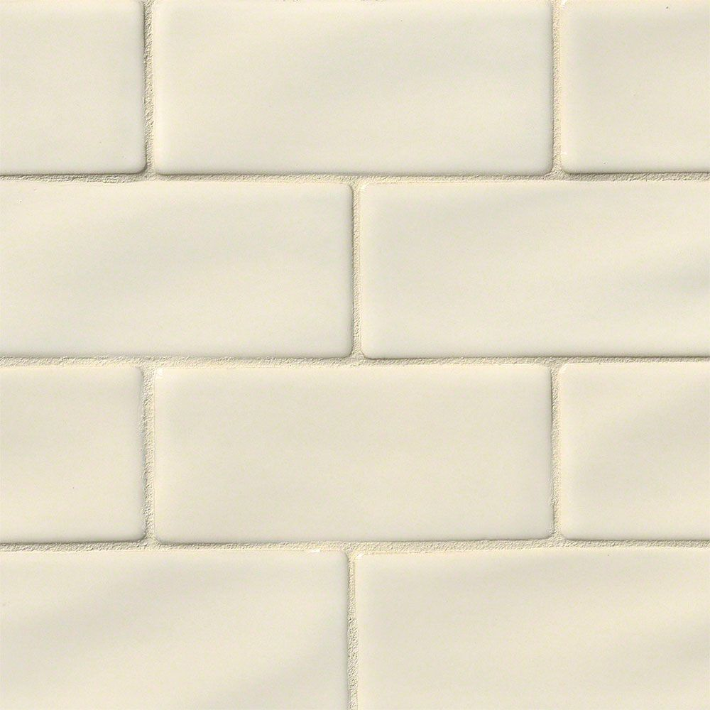 Ms International Highland Park 3 X 6 Antique White Handcrafted Subway Tile Tiles Subway Tile