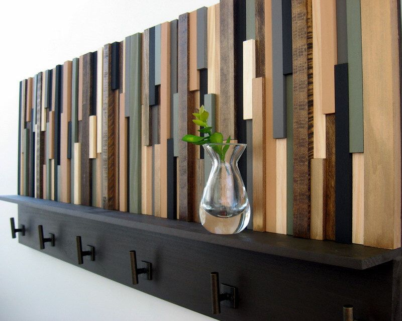 Wood Wall Art, Rustic Coat Rack, Wood Coat Rack, Rustic ...