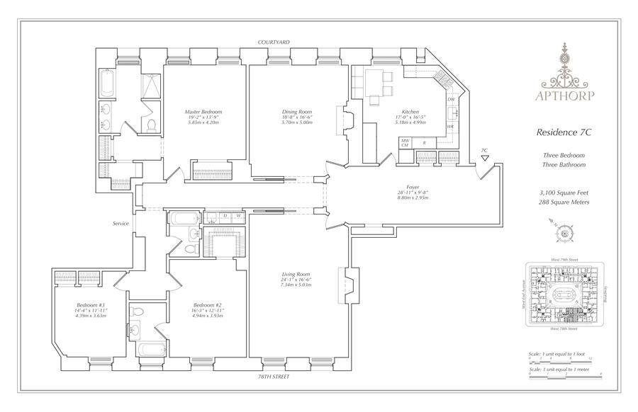 390 West End Avenue 7c New York Ny 10024 Sales Floorplans Property Records Realtyhop Floor Plans Apartment Floor Plans Property Records