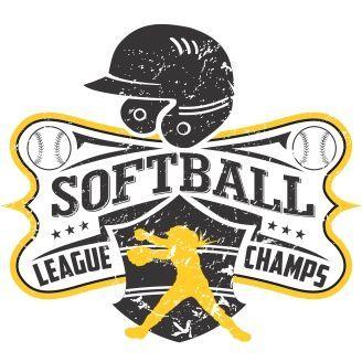 softball league champs vector t shirt design softball pinterest