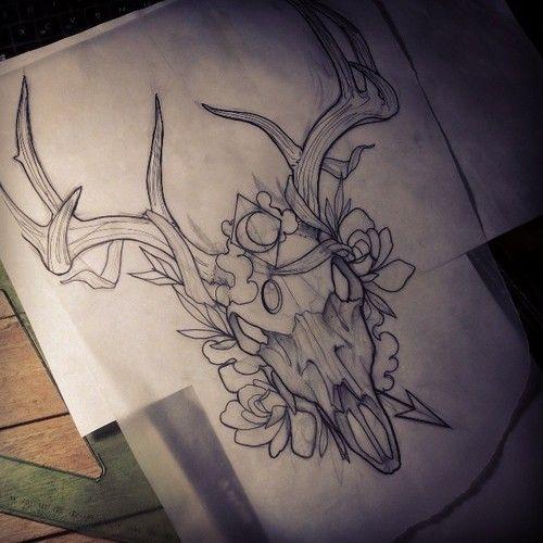 Traditional Deer Tattoos Google Search Deer Skull Tattoos Chest Piece Tattoos Deer Tattoo