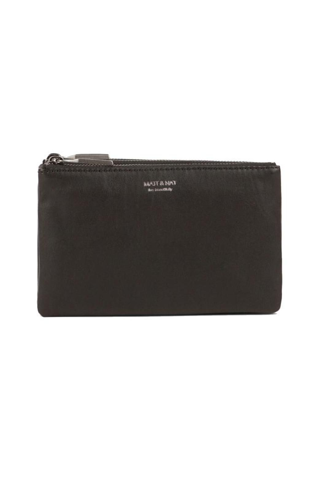 """Triplet Black Wallet. 3 separate zipped compartments. 12 credit card slots and 1 patch pocket.   Dimensions: 8"""" X 5.5"""" X 2"""". Vegan Leather Wallet by Matt & Nat. Bags - Wallets & Wristlets Pennsylvania"""