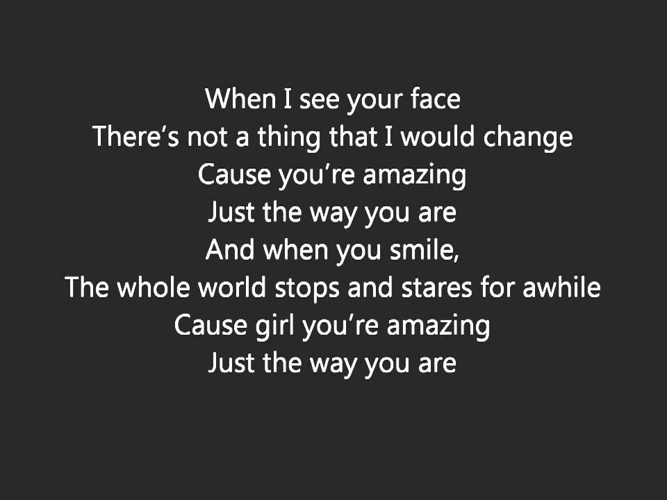 Lyric brantley gilbert just as i am lyrics : Bruno Mars When I See You Face Lyrics HD | That's amore