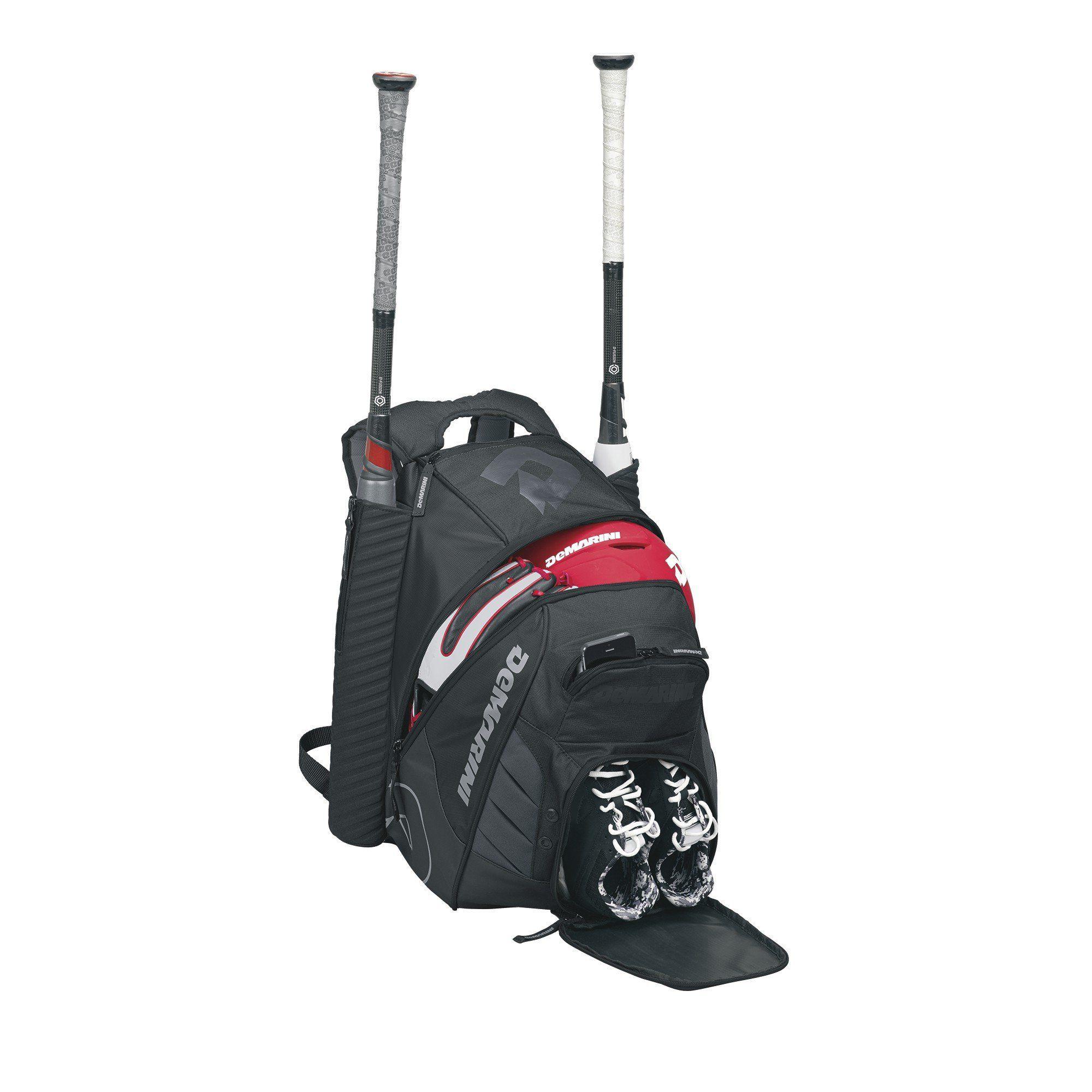 Baseball Bat Bag Softball Sport Equipment Bags Separated Pocket Holds black