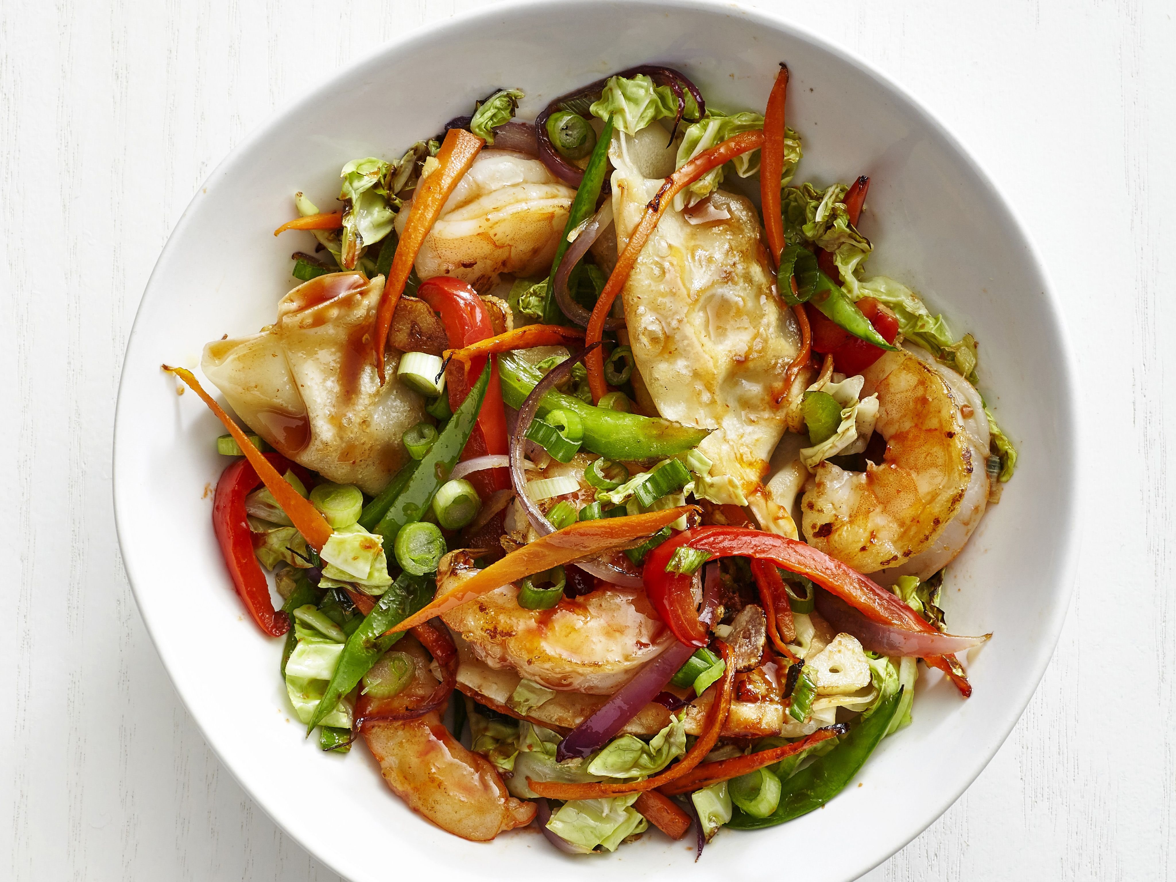 Shrimp and dumpling stir fry recipe stir fry kitchens and recipes dishes shrimp and dumpling stir fry recipe from food network forumfinder