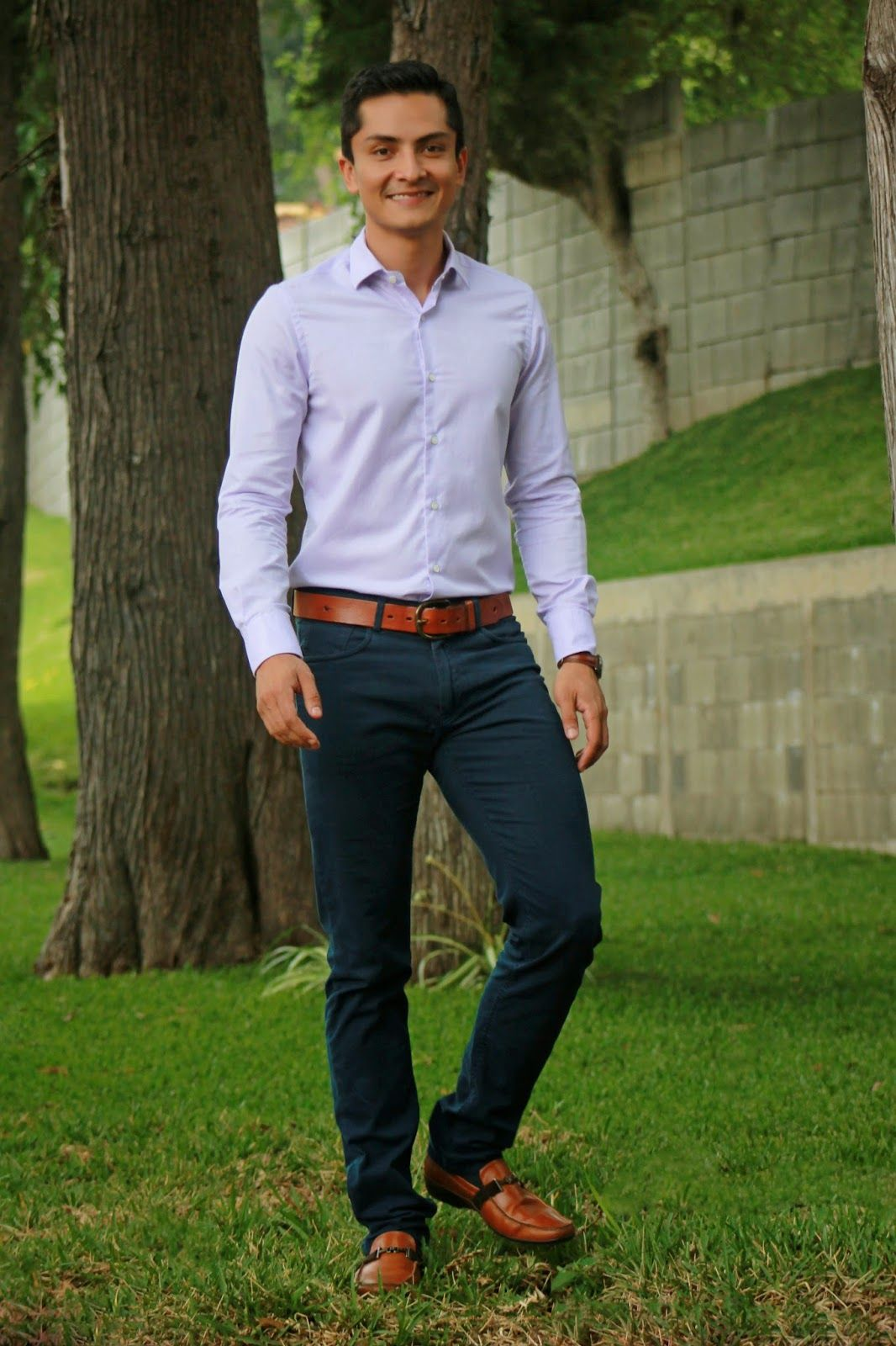 Pin By Sophia Hanser On Fancy Hansy In 2018 Pinterest Gents Tendencies Long Pants Rigid Quarter Chinos Khaki 26 Navy Blue Cognac Shoes Belt Watch Lilac Shirt Mens Attire Business Look