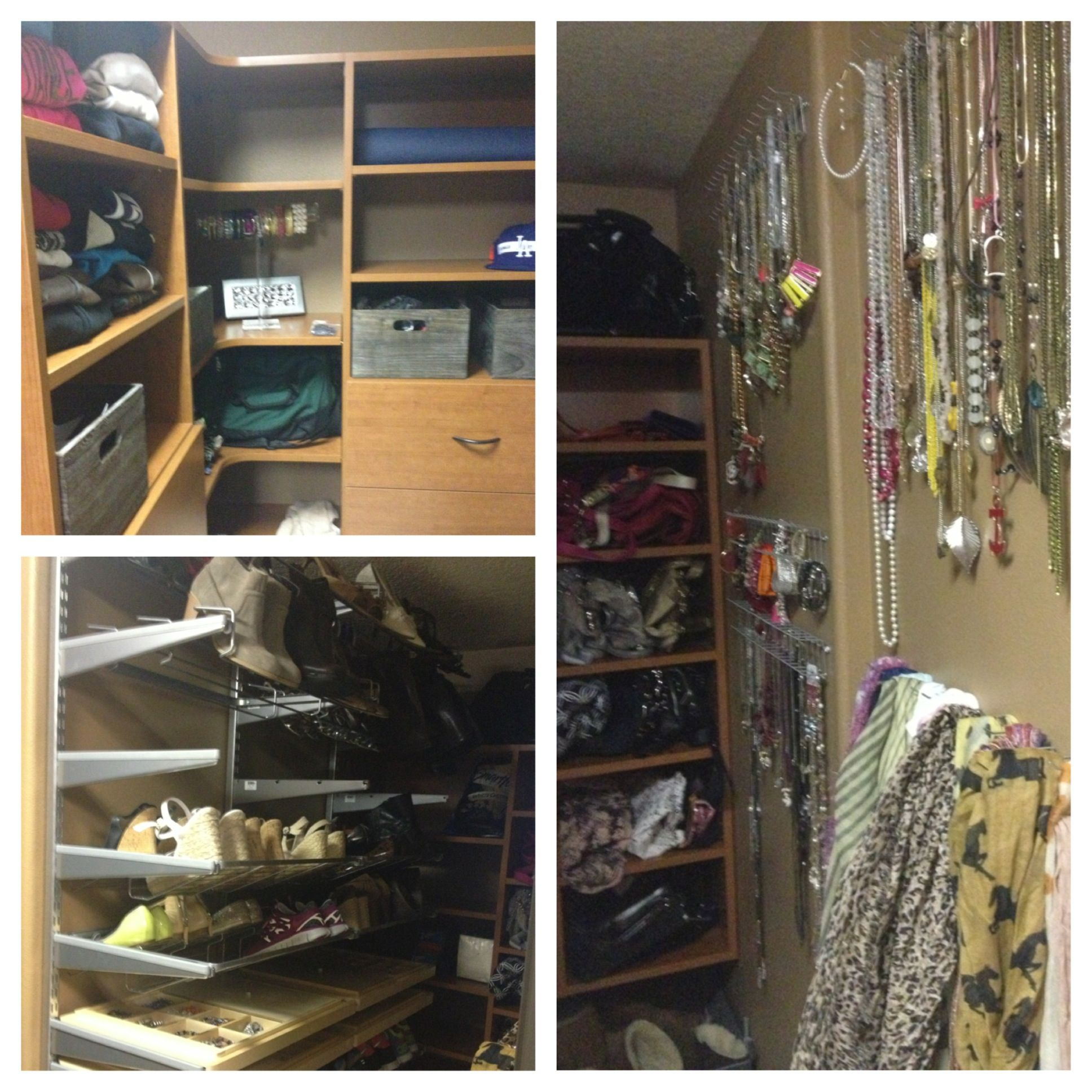 After We Installed Custom Shelving From Portland Closets And Shoe Racks And  Baskets From The Container