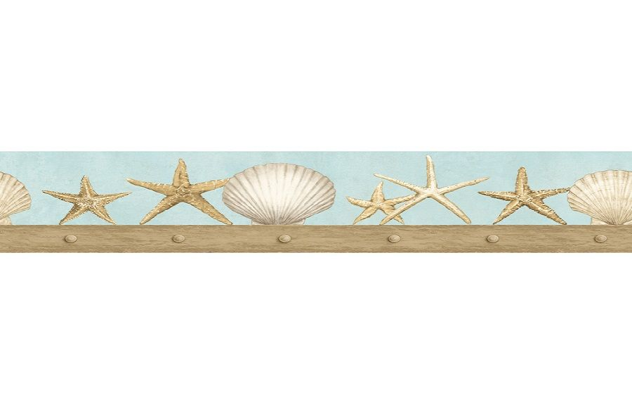Seashell Wallpaper Border For Bathrooms ~   lanewstalk