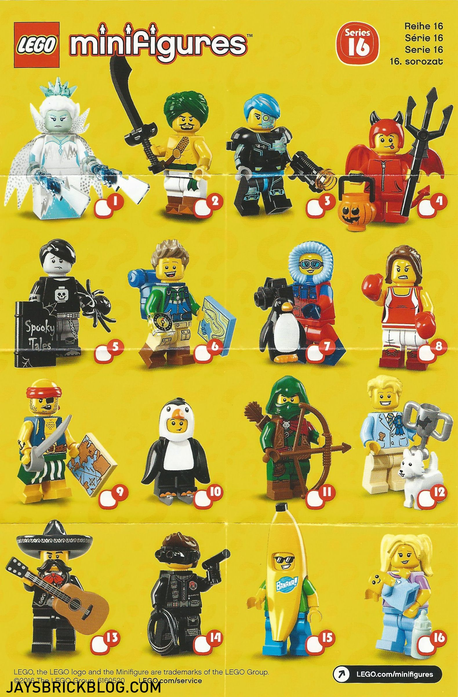 lego minifigures series 16 checklist lego minifigures pinterest lego lego city and games. Black Bedroom Furniture Sets. Home Design Ideas