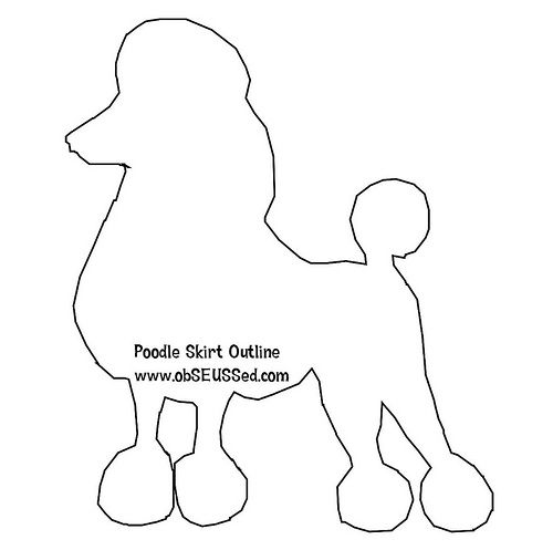 Poodle pattern for skirt sew cute pinterest poodle for Poodle skirt applique template