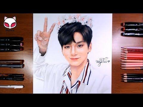 Drawing WannaOne - Ong Seongwoo 워너원 - 옹성우 그림 그리기[Mystic]