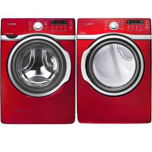 Samsung Tango Red 3 9 Cu Ft Steam Washer And 7 3 Cu Ft Steam Dryer Wf393btpara Dv393etpara By Samsung Http Www Amazo Steam Dryer Steam Washer Samsung Washer