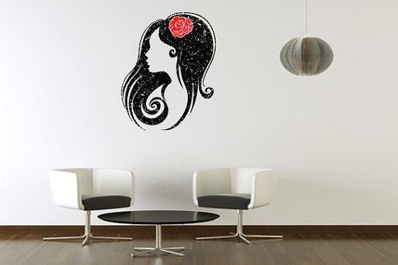 Wall Decal Profile Chic  WallSkin decal par AccentWallCustoms, $54.99