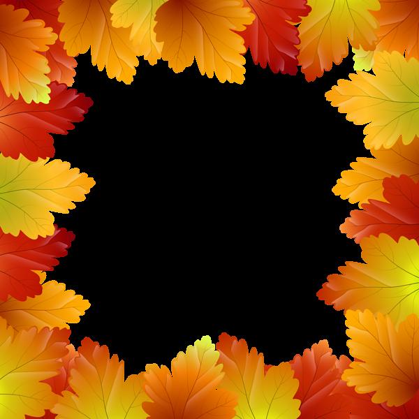 Autumn Leaves Border Frame Png Clip Art Image Autumn Leaves Art Images Clip Art
