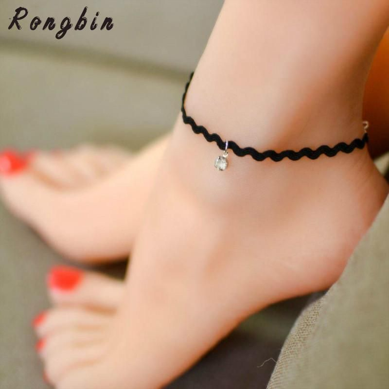 Hot sell crystal anklet foot jewelry fashion collares