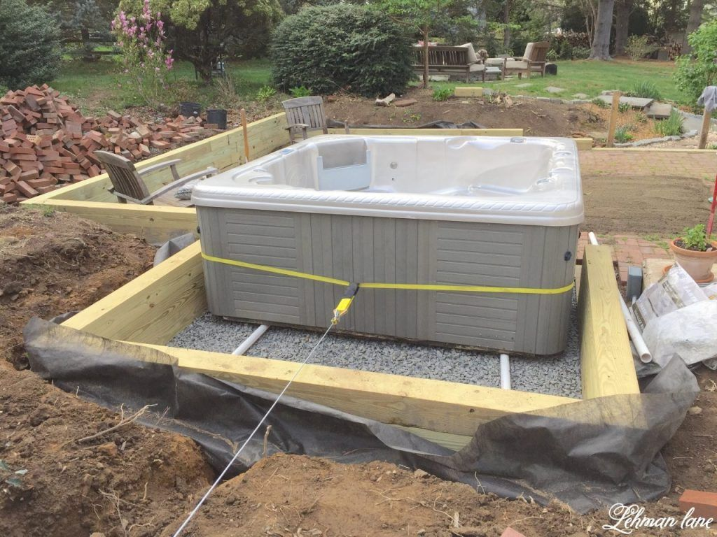 Moving a Hot Tub with just 2 People Tub, Hot, Backyard