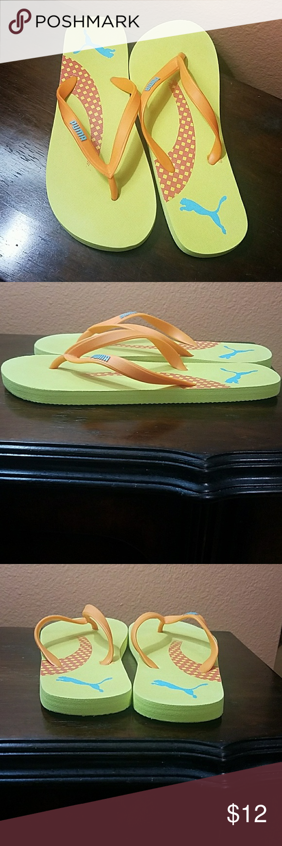 3d97d45ebc8e Puma Flip Flops! Size 5 6 is what it says on the bottoms but I think ...