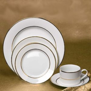 White China with Gold Band | Dinnerware Rentals | M\u0026M Special Events & White China with Gold Band | Dinnerware Rentals | M\u0026M Special Events ...