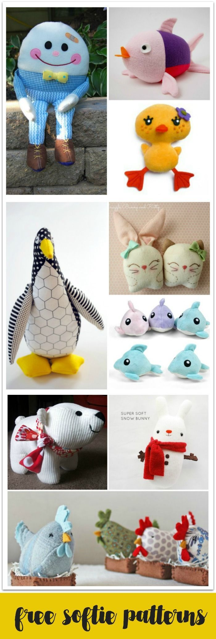 10 Free Softie Patterns to Sew for Sew-a-Softie Day | Costura ...