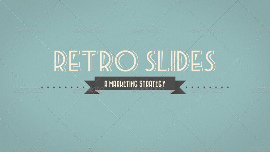 retro slides powerpoint template widescreen design creative