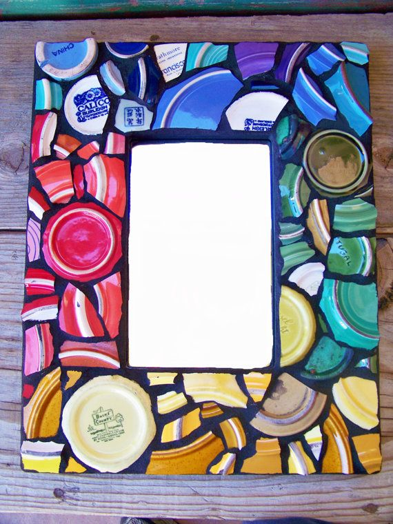 Mosaic Mirror Wall Art in Rainbow Footers and by NatalieBacaStudio ...