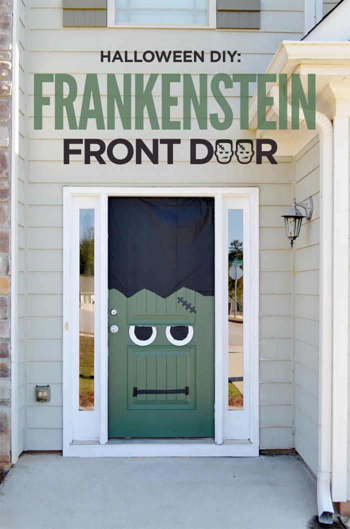 Halloween DIY Frankenstein Front Door and Painted Frankenstein Pumpkin & Halloween DIY: Frankenstein Front Door and Painted Frankenstein ... pezcame.com